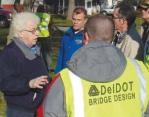 Rep. Kowalko with DelDOT