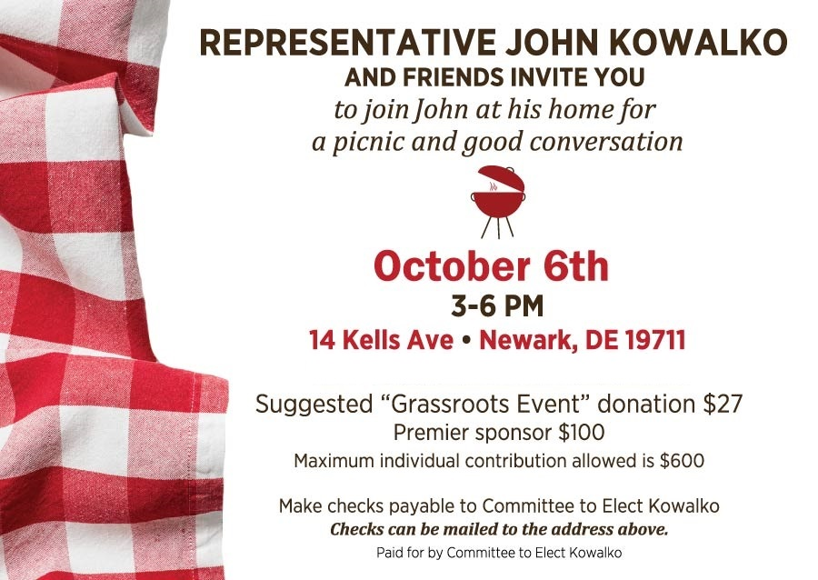 Kowalko Fundraiser Invitation 2018